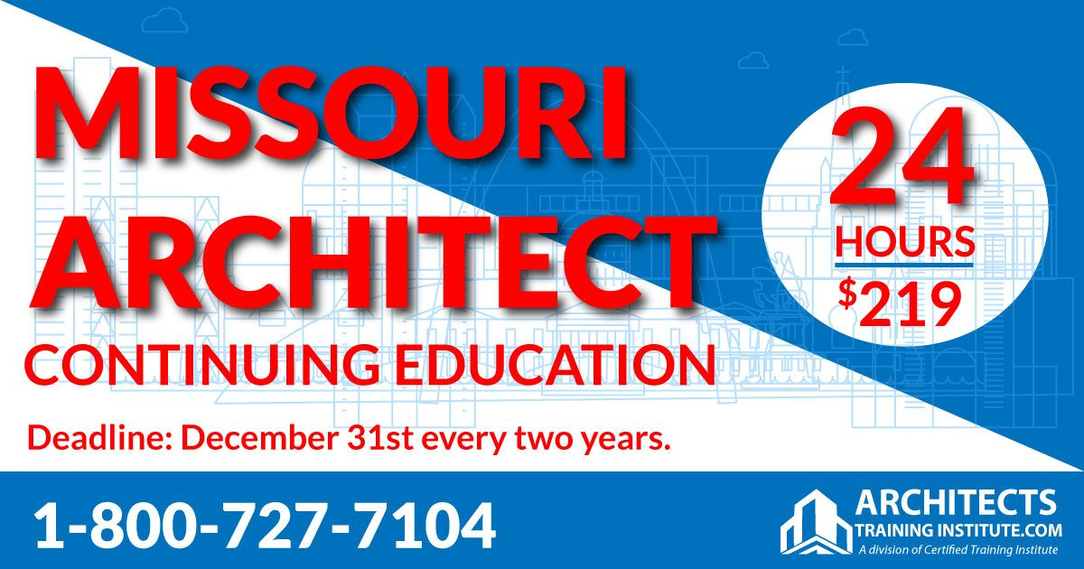 Missouri Architect Continuing Education