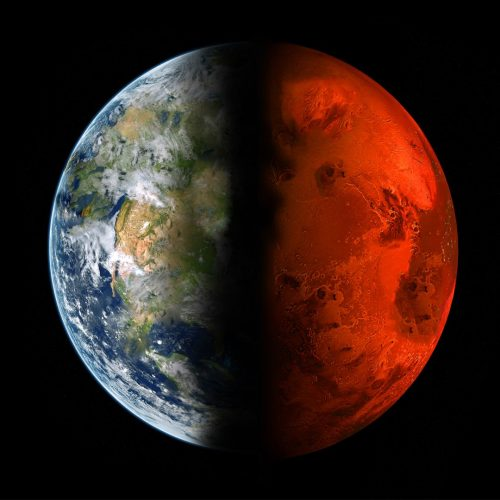 Earth-and-Mars